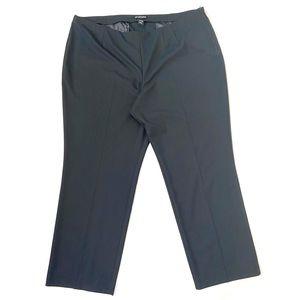 Lane Bryant Black wide-leg side zip trousers sz 26
